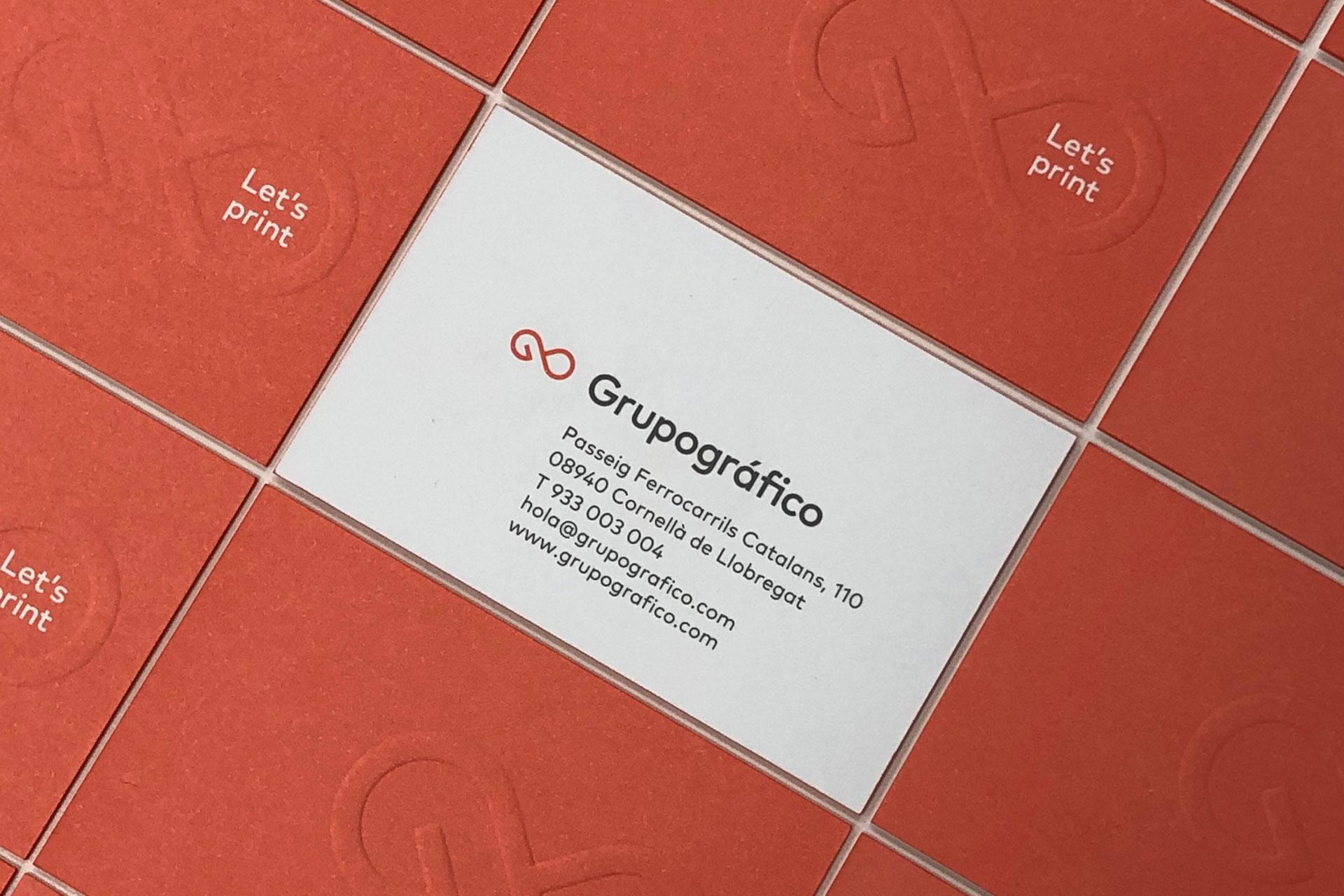 grupográfico Impresión digital de tarjetas y tarjetones